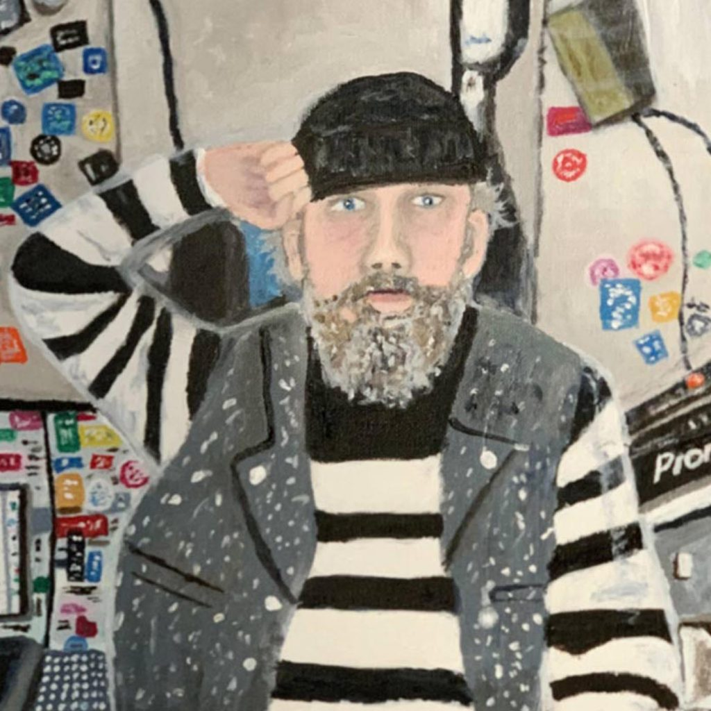 Remembering Andrew Weatherall - Hideous Things Blog - Detail from artwork by Rory Flynn